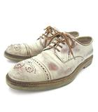ジミーチュウ JIMMY CHOO ドレスシューズ ストレートチップ ヴィンテージ加工 レザーシューズ 革靴 イタリア製 パーティー イベント 42 27cm ベージュ系 S IBS65