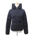 デュベティカ DUVETICA ダウンジャケット THIADUE ティアドゥエ チェルッティ社製 ウール カシミヤ混 フーデッドコート 38 Mサイズ 紺 ネイビー S2026 IBS65