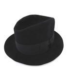 ヴィンテージ VINTAGE ステットソン STETSON フェルトハット 中折れ 帽子 ぼうし 黒 ブラック S IBS78