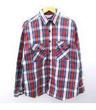 ファイブブラザー FIVE BROTHER 80s ネルシャツ 長袖 薄手 USA製 VINTAGE ビンテージ ヴィンテージ チェック コットン L マルチカラー N