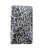 シャネル CHANEL 長財布 カメリア グラフィック ココマーク 二つ折り エナメル ロング ウォレット イタリア製 紺 ネイビー
