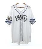 福岡ソフトバンクホークス 80th レプリカ ユニフォーム 野球 ウエア 応援グッズ ベースボールシャツ 3XL 大きいサイズ 白 ホワイト
