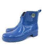 ミッソーニ MISSONI ショートブーツ レインブーツ ロゴ ラバーブーツ 長靴 雨靴 イタリア製 38 25㎝ 青 ブルー IBS84