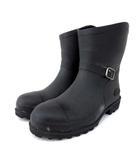 ミツウマ ゴリラ GORILLA エンジニアブーツ風 セーフティーブーツ 防水 スチールトゥ 作業用 長靴 安全靴 Lサイズ 26cm 黒 ブラック