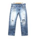 ディーゼル DIESEL アディダス コラボ LARKEE デニム パンツ ダメージ加工 ジーンズ イタリア製 国内正規 34 青 ブルー NVW