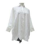 ツモリチサト TSUMORI CHISATO キャッツ cat's 美品 ドルマン シャツ 長袖 裾ネコ トップス カットソー 2 Mサイズ 白 ホワイト NVW