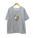 カネコイサオ KANEKO ISAO Tシャツ カットソー 半袖 花柄 プリント ライトグレー FK