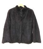 サガミンク SAGA MINK ミンク 毛皮 コート ショート丈 リアルファー ジャケット 上質 高級 13 Lサイズ 赤茶系 ECR