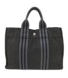 フールトゥPM ハンドバッグ ミニ トートバッグ コットン キャンバス 小さいサイズ フランス製 黒 ブラック系