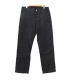 ビズビム VISVIM 20SS TRADE WIND PANTS 0120105008003 パンツ リネン混 ストレート USED加工 日本製 2 約M~Lサイズ 黒 ブラック