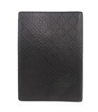 グッチ GUCCI ディアマンテ ノートカバー 手帳カバー ブックカバー デザイン型押し イタリア製 黒 ブラック