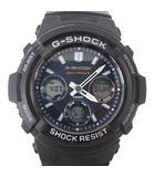 AWG-M100SB-2AJF 腕時計 ソーラー 電波時計 アナデジ ウォッチ ブラック 文字盤ネイビー