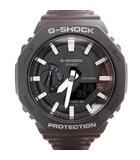 美品 GA-2100-1AJF 腕時計 初代モチーフ 八角型 アナデジ ウォッチ ショックレジスト クオーツ 黒 ブラック