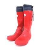 ロゴス ROGOS コンパクト レイン ブーツ ロング ドロスト 長靴 雨具 普段使い アウトドア M 約24~25 赤 レッド