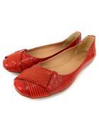 タビタ TABITA フラット シューズ ラウンドトゥ エナメル 赤 38 靴 シューズ FK NVW