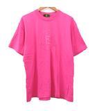フェンディ FENDI Tシャツ ズッカ刺繍 クルーネック カットソー トップス F ピンク ECR3