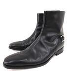 ホースビット ブーツ 204398 レザー ショートブーツ イタリア製 39.5 約24.5~25cm 小さいサイズ 黒 ブラック