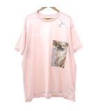 モンタージュ プリント Tシャツ オーバーサイズ カットソー フォト 国内正規 L 薄ピンク