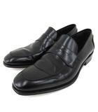 サルヴァトーレフェラガモ Salvatore Ferragamo コインローファー レザー ペニーローファー ドレスシューズ 革靴 ビジネス フォーマル イタリア製 8 26cm 黒 ブラック