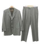 エルメス HERMES SUPER 120's スーツ シングル ジャケット スラックス パンツ イタリア製 ビジネス 式典 54 XLサイズ グレー ECR5
