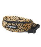 シュプリーム SUPREME 17AW ウエストバッグ Leopard Fleece Waist Bag レオパード フリース ボディバッグ ベージュ