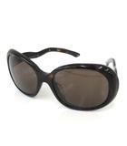 プラダ PRADA サングラス spr08l アイウエア ウエーブテンプル セルフレーム 眼鏡 イタリア製 57□18 茶 ブラウン