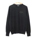 ディオールオム Dior HOMME 18SS ATELIER ロゴ ニット ウール セーター 長袖 クルーネック カットソー コレクションライン イタリア製 国内正規 XS 黒 ブラック ECR7