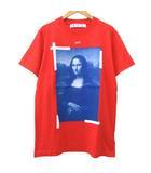 オフホワイト OFF WHITE 21SS モナリザ Tシャツ 半袖 バック クロスアロー プリント トップス カットソー M 赤 レッド