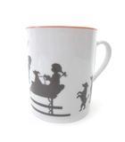 エルメス HERMES シルエット マグカップ 陶器 食器 オレンジライン 雑貨 プレゼント 贈り物