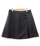 フォクシーニューヨーク FOXEY NEW YORK 美品 スカート 台形 ミニ ツイード 総柄 35173 チャコールグレー 42 L相当 FK IBO14