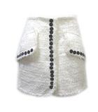 アレキサンダーワン ALEXANDER WANG スカート ツイード 白 ミニ 台形 2 S ホワイト WGA1 X