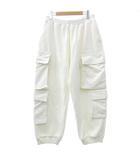 ルイヴィトン LOUIS VUITTON 19SS モノグラム ベロア マルチポケット カーゴ パンツ イタリア製 国内正規 M 白 ホワイト