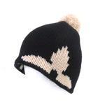 ルイヴィトン LOUIS VUITTON 美品 M70840 ボネ モーニングラム ノワール ニット キャップ ウール100% ニット帽 帽子 イタリア製 黒 ブラック