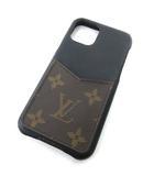 ルイヴィトン LOUIS VUITTON iPhone バンパー 11pro スマホケース モノグラム レザー スマートフォンケース アイフォンケース イタリア製 ノワール (黒)