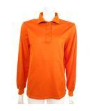 クリスチャンディオール Christian Dior SPORTS ポロシャツ 長袖 衿裏ロゴ カットソー ロゴ刺繍 オレンジ M