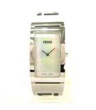 フェンディ FENDI 3250L クオーツ 腕時計 バングル ブレスレット シェル文字盤 シルバー