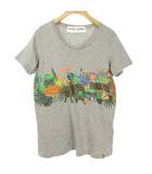 ハンティングワールド HUNTING WORLD BORNEO ボルネオ プリント Tシャツ カットソー 半袖 S グレー 国内正規品