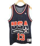 チャンピオン CHAMPION USA ドリームチーム2 ゲームシャツ シャキールオニール バスケ 36 ネイビー