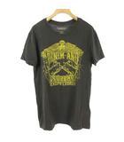 デニム&サプライ ラルフローレン DENIM & SUPPLY RALPH LAUREN Tシャツ トップス バイカー プリント 半袖 XS チャコールグレー 国内正規品