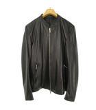 ステュディオス STUDIOUS ラムレザー シングル ライダース ジャケット ブルゾン 羊革 3 ブラック 黒