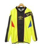 アンブロ UMBRO UBA4338 ピステトップ トレーニング プルオーバー シャツ ジャケット M イエロー