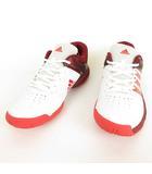 アディダス adidas BB4834 Quickforce 5.1 テニス シューズ スニーカー 25cm ホワイト エンジ ピンク