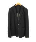 ミハラヤスヒロ MIHARA YASUHIRO リネン ジャケット テーラード ブレザー 麻 シルク混 48 ブラック 黒