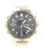 カシオ CASIO WVQ-M410 WAVE CEPTOR ウェーブセプター クロノグラフ タフソーラー 電波時計 腕時計 ウォッチ ネイビー文字盤
