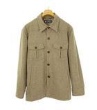 チャップス CHAPS ラルフローレン ヘリンボーン ツイード シャツ ジャケット トップス M ベージュ 国内正規品