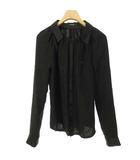 アンダーカバー UNDERCOVER アンダーカバーイズム B1410 シルク ブラウス シャツ トップス 比翼 長袖 1 ブラック 黒