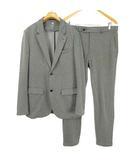 アディダス adidas シングル スーツ セットアップ ジャージ素材 ジャケット パンツ O グレー 国内正規品