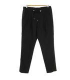 トラディショナルウェザーウェア Traditional Weatherwear テーパード パンツ イージー サイドライン ウール 毛 黒 ブラック S 国内正規品