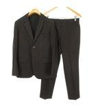 マーガレットハウエル MARGARET HOWELL グレンチェック シングル スーツ セットアップ ジャケット パンツ S ダークブラウン