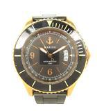ユナイテッドアローズ UNITED ARROWS MARINE WATCH ダイバーズ クオーツ 腕時計 ウォッチ ゴールド ブラック